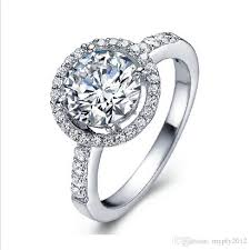 girls wedding rings images New wedding rings for women rose gold white gold color crystal jpg