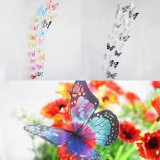 18 pieces 3d butterfly crystal transparent decor wall sticker home 18 pieces 3d butterfly crystal transparent decor wall sticker home wall wedding party decoration