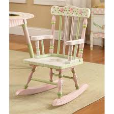 rocking chairs for kids 17 furniture interior good light green and pink wooden fl pattern chair