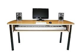 Metro Studio Solid Wood Computer Desk In Honey Pine 99042 by Desk Rta Producer Studio Computer Glass Corner Recording 13