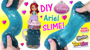 diy disney princess ariel glitter slime squishy
