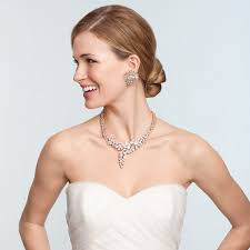 bridal hairstyle for gown bridal jewelry for every wedding dress style martha stewart weddings