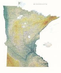 minnesota topographic map minnesota elevation tints map wall maps