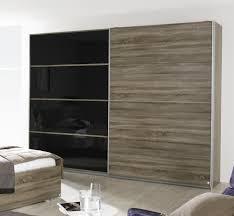 armoire moderne chambre armoire contemporaine portes coulissantes chêne basalt maine