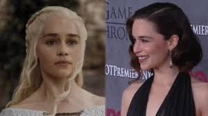 who is the blonde in the game of heroes commercial emilia clarke goes blonde see the game of thrones star channel
