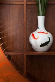 furniture colorful home design in natural and modern combination vase with fish picturre for wall decor accessories