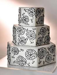 hexagon wedding cake gallery