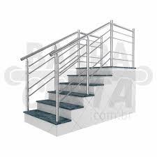 Conhecido Corrimao continuo de aço inox para escada de 1 metro | Barracerta @YJ53