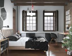 scandinavian bedroom design for woman with a white color scheme