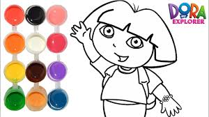 draw u0026 color dora explorer drawing u0026