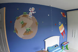 space cartoon murals for children s rooms space mural
