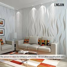 Livingroom Wallpaper Modern Minimalist Non Woven Water Plant Pattern 3d Flocking