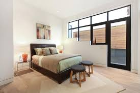 Black Leather Armless Chair Architecture Small Bedroom Home With Great Views In San Fransico