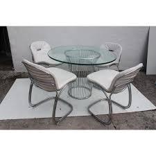 Gastone Rinaldi Italian Chrome Dining Table Chairish - Chrome kitchen table