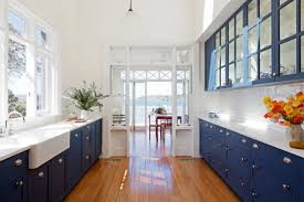 blue kitchen decor ideas blue and white kitchen decoration ideas stainless steel accents