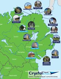 Northern Ireland Map 7 Day Wandering Westeros Game Of Thrones