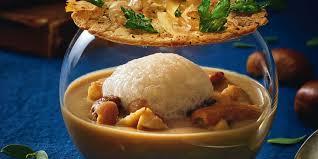 cuisiner une poule faisane crémeux de châtaignes aux cèpes et bouillon de poule faisane d