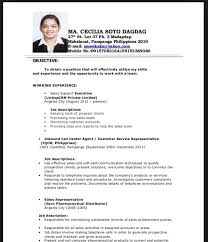 ideas collection sample resume for call center about example