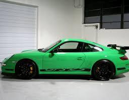 porsche 911 gt3 rs green 2007 porsche 997 gt3 rs green black 650 miles sloan cars
