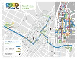Metro Expo Line Map by Ciclavia Heart Of La