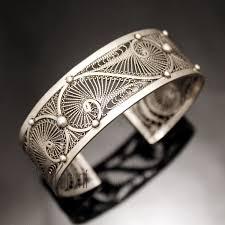 cuff bracelet sterling images Ethnic cuff bracelet sterling silver jewelry filigree berber tribe jpg