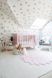 pink and gray striped nursery rug design ideas