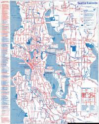 Seattle Map Downtown by 1988 Metro Transit Map Seattle And Eastside One Side Of A U2026 Flickr