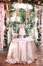 baby girl baby shower ideas a feminine baby shower in pink and gold picmia