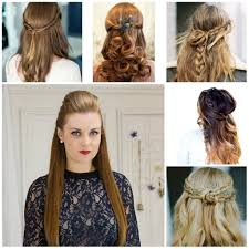 half updos for long straight hair cute hairstyles for straight