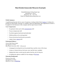 Profile Summary Resume Examples by Free Printable Real Estate Agent Resume Featuring Profile Summary