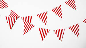 Red White Striped Flag Red And White Stripe Pennant Paper Garland6 Ftcanival
