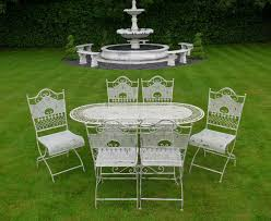 Green Wrought Iron Patio Furniture by Jayden Shabby Chic White Wrought Iron Metal Garden Furniture Patio