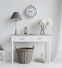 Shabby Chic Console Table The Suffolk Console Table With 2 Drawers Decorate Your In