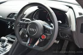 first audi r8 2016 audi r8 v10 plus steering wheel first drive indian autos blog