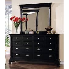 bedroom black bedroom dresser furniture set with mirror terrific black dresser with mirror st regis bedroom set in black finish dcg stores