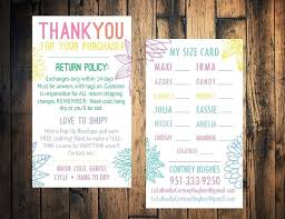 thank you card size office depot return policy no receipt business card size card thank