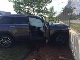 jeep vs retaining wall at mcdonald u0027s in bourne