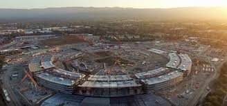 a drone u0027s eye view of apple u0027s incredible new spaceship shaped