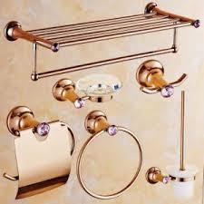 china flg 6 units brass zinc alloy dimond bathroom accessories