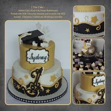 graduation 2 tier cake inspired by jessica harris marble cake