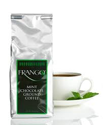 frango flavored coffee 12 oz chocolate mint flavored coffee
