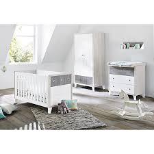 babyzimmer grau wei komplett kinderzimmer kinderbett wickelkommode und