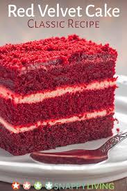my favorite red velvet cake recipe snappy living