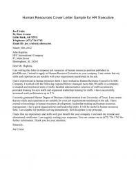 sample cover letter human resources sample cover letters sample