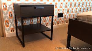 Dark Brown Changing Table by Furniture Oak Wood Ikea Nightstand With Three Drawers And Unique