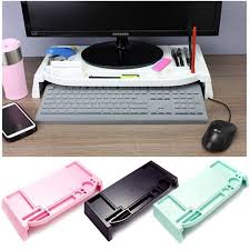 Electronic Desk Organizer Monitor Stand Led Lcd Cradle Desk Organizer Office Computer