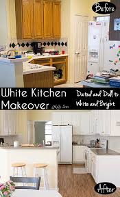 1990s Kitchen by White Kitchen Makeover Ugly And Dated To White And Bright