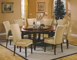 cool simple dining room design ideas with round glass table photo