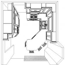 kitchen floor plan layouts with island u shaped plans drawings