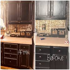 best way to paint kitchen cabinets black distressing kitchen cabinets before and after primitive